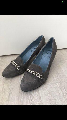 993 NOVE-NOVE-TRE Escarpins Mary Jane gris anthracite-argenté