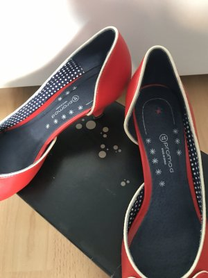 Promod Peep Toe Pumps red-white