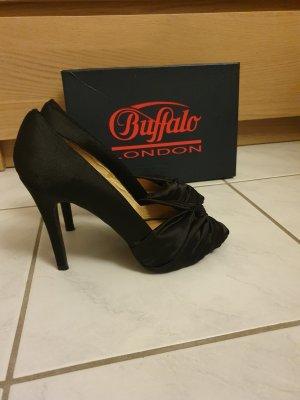 Buffalo London Peep Toe Pumps zwart