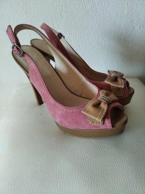 5th Avenue Peep Toe Pumps roze-beige