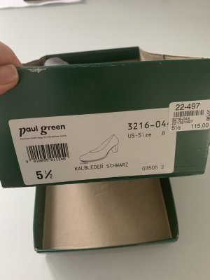 Paul Green Plateauzool pumps zwart Leer