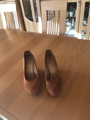 5th Avenue Wedge Pumps russet
