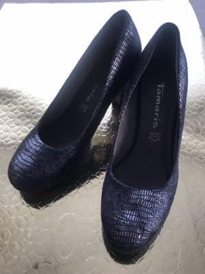 Tamaris High-Front Pumps silver-colored-anthracite