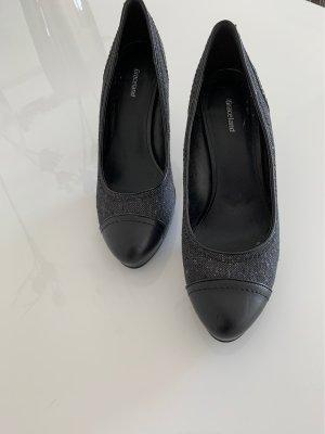 Graceland Plateauzool pumps zwart-grijs