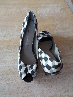 Tamaris Chaussure à talons carrés blanc-noir