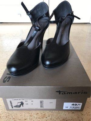 Tamaris Pumps met bandjes zwart