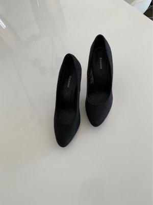 Graceland Plateauzool pumps zwart