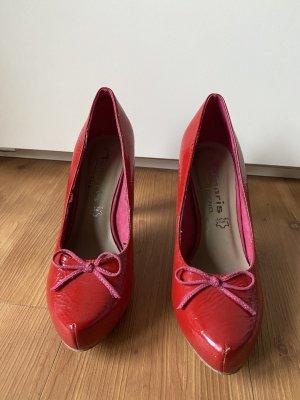 Tamaris Tacones con plataforma rojo