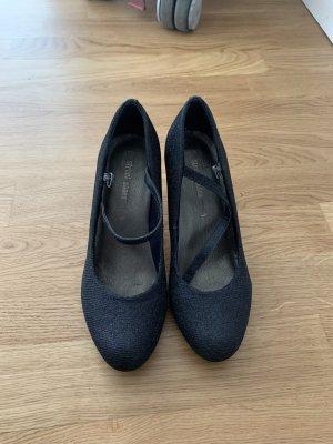 Street Shoes T-Strap Pumps blue