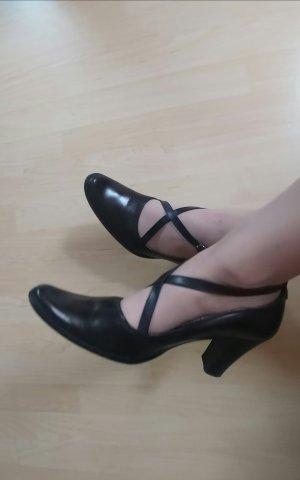 Alberto Fermani Zapatos de punta marrón oscuro
