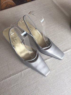 ae elegance Escarpins à lanière gris brun cuir