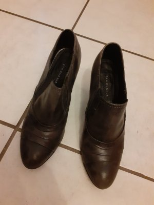 5th Avenue High-Front Pumps taupe-dark brown