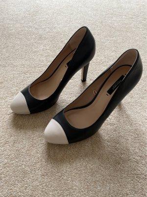 Pumps bicolor schwarz/beige Zara Basic Gr.40, ungetragen!