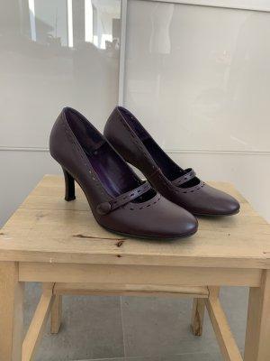 Buffalo Tacones Mary Jane violeta amarronado