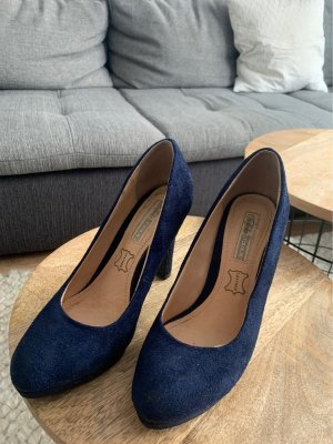 Buffalo Platform Pumps dark blue