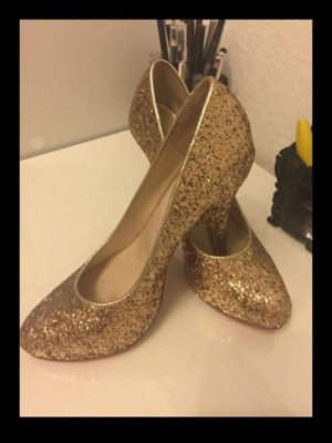 H&M Classic Court Shoe gold-colored