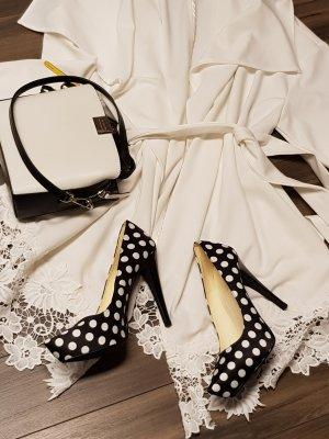 Alba Moda Hoge hakken wit-zwart