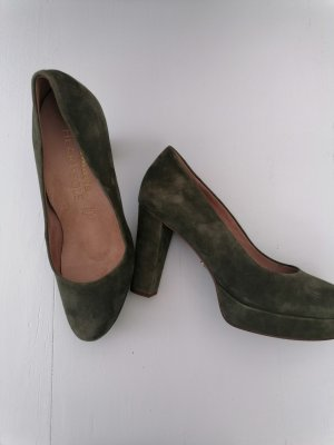Tamaris Plateauzool pumps bos Groen