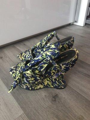 Miss Sixty Décolleté con plateau giallo neon-blu scuro
