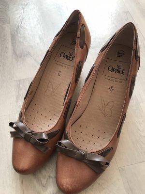 Caprice Slip-on Shoes cognac-coloured