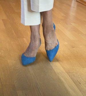 Paul Andrew Czółenka z paskiem za piętą błękitny-chabrowy