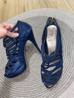 Alisha Peep Toe Pumps dark blue