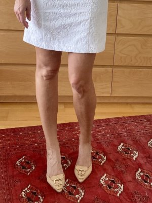 Celine Gesp-pumps nude