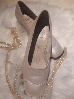 ara Pumpy Mary Jane  w kolorze białej wełny-biały Skóra