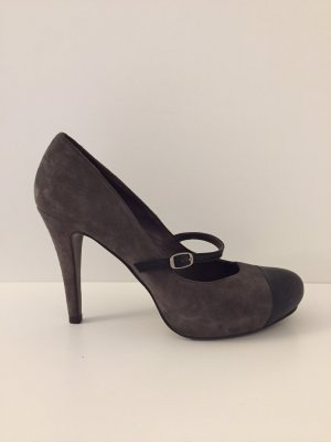 si by sinela Backless Pumps dark grey-black