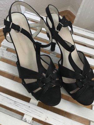 Laura Scott Zapatos de tacón con barra en T negro