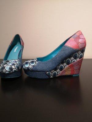 Desigual Zapatos de cuña rosa-azul