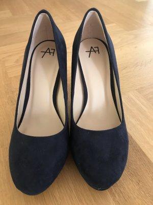 Anna Field Tacones con plataforma azul oscuro