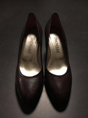 Brunella Pointed Toe Pumps dark brown