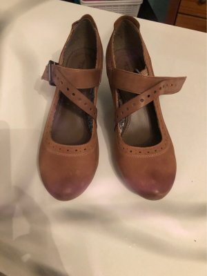 Tamaris Backless Pumps brown