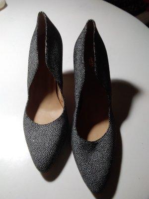 Lloyd Chaussure à talons carrés blanc-noir