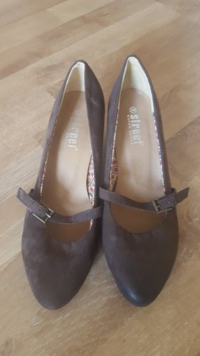 Street Super Shoes Backless Pumps dark brown