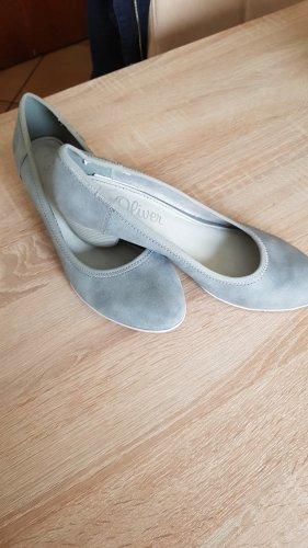 s.Oliver Tacones de plataforma gris claro