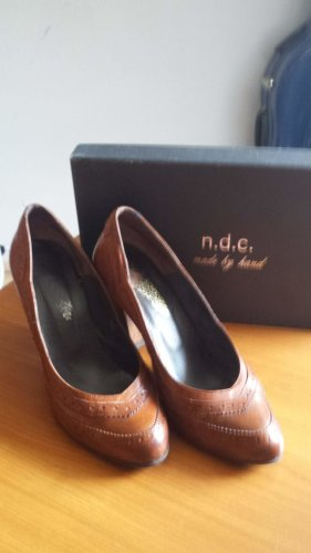 n.d.c. made by hand Zapatos Informales coñac-marrón oscuro Cuero