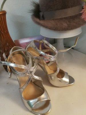 Pumps high heels, gr. 35,5 chic, silber sexy