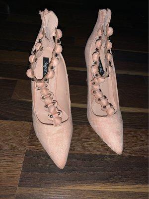 Pumps/high heels gr.39 Rosa / Puder