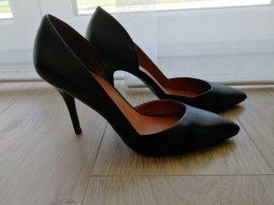 Pumps High Heels Leder schwarz (Gr. 38)