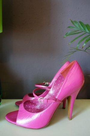 Pumps, High Heels, Moschino Cheap & Chic, pink, Peeptoes