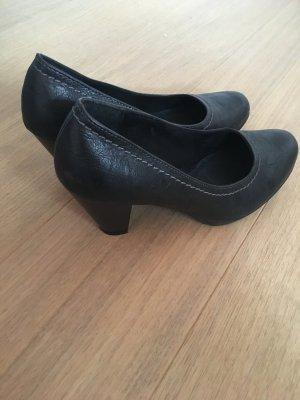 Pumps High Heels schwarz Schuhe mit Absatz Basic Gr. 39