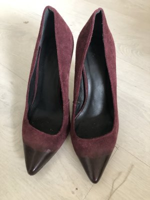 Pumps High heels Stiletto von maje Gr.37/37,5 weinrot Bordeaux Wildleder