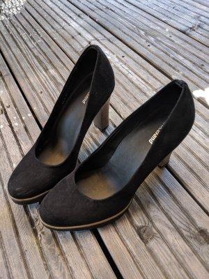 Pumps High Heels von graceland Größe 37 schwarz holzoptik