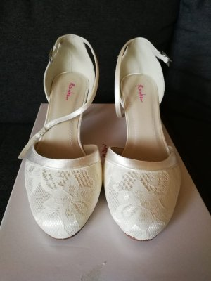 Rainbow Strapped pumps cream-natural white