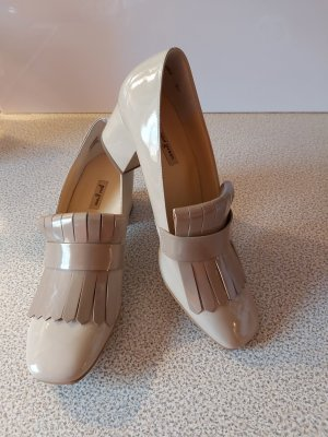 Paul Green High-Front Pumps beige leather