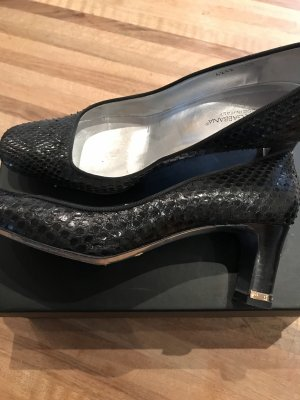 Dolce & Gabbana Mary Jane Pumps black-gold-colored leather