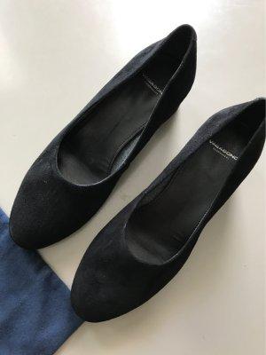 Vagabond Chaussure à talons carrés noir daim