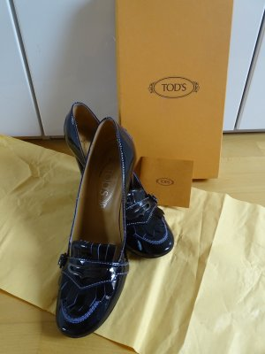 Tod's Wedge Pumps black leather